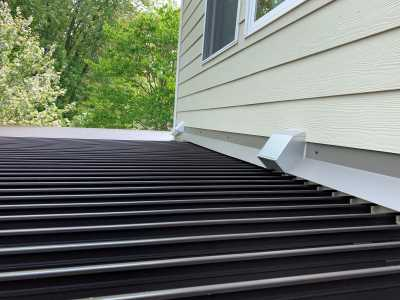 Close Up Louvered Roof