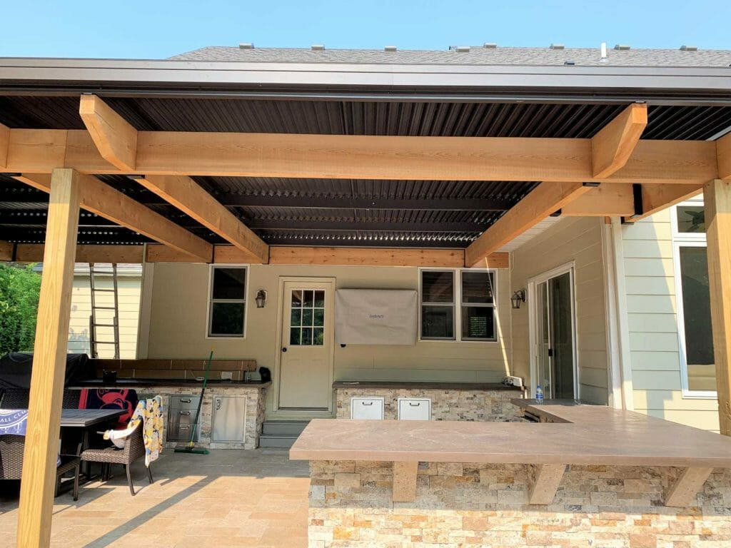 Motorized Louvered Roof