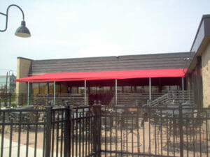 Contact Acme Awning to build a custom canvas patio top with supports