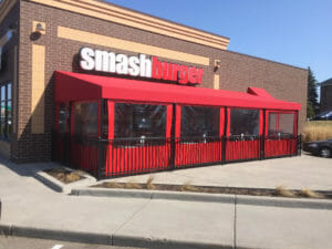 Acme Awning works with Smashburger to provide seasonal, enclosed patio dining