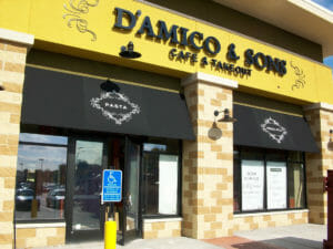 Classic awning with no valance at D'amico & Sons in Minnesota