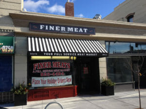 South Minneapolis meat market with custom awning and valance