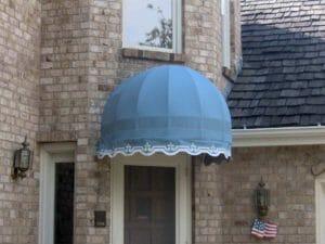 Circle Awning Entryway Stencil
