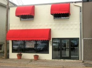 Colorful Cascade Awnings