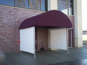Half Barrel Canopy with Curtains
