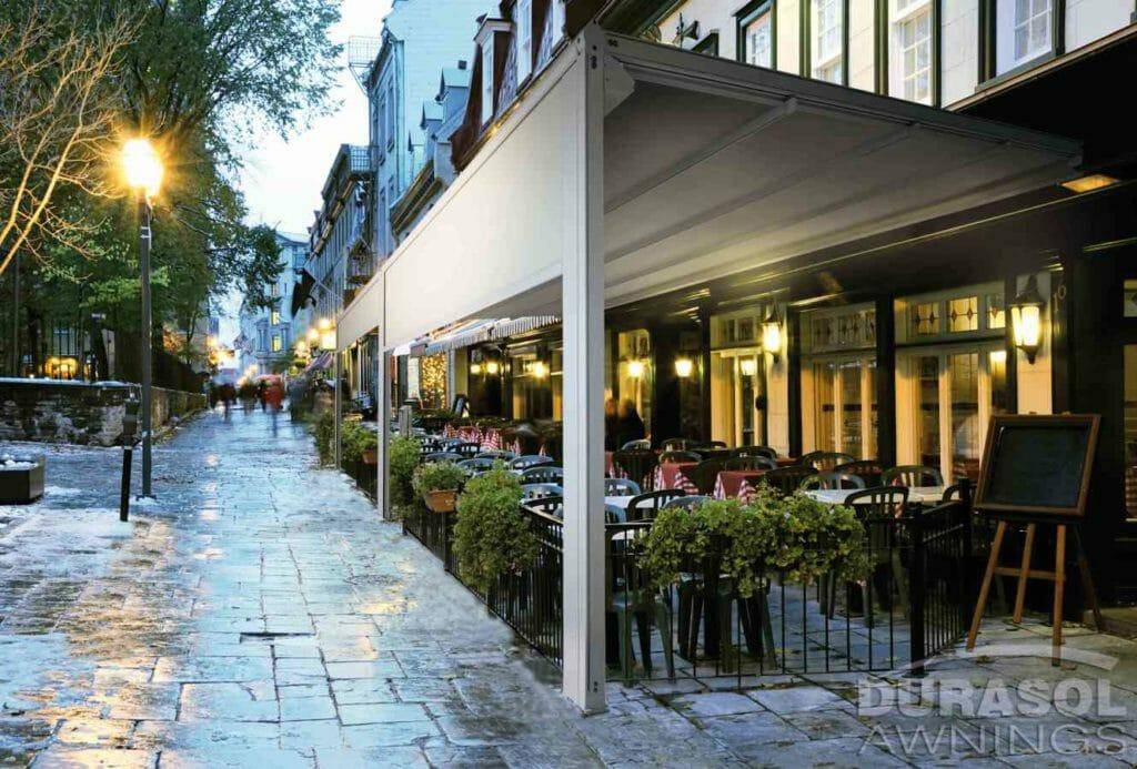 Waterproof Retractable Awning Restaurant